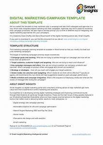 digital marketing campaign templateabout this templatewe With marketing campaign brief template