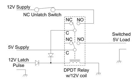 switches self latching relay electrical engineering