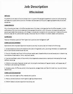 Comprehensive job description template word excel for Samples of job descriptions templates
