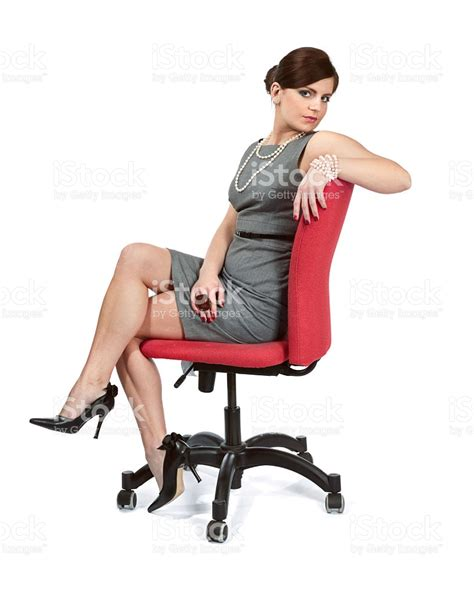business sitting on office chair stock photo