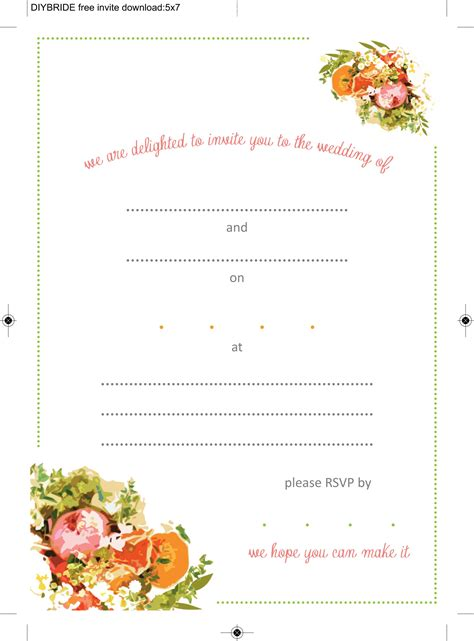 invitations to print free free printable wedding invitation templates download