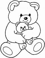 Bear Coloring Pages Teddy Bears Animals Colouring Sheet Printable Printables Books sketch template