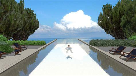piscina in terrazza progettazione di piscina trasparente sulla terrazza