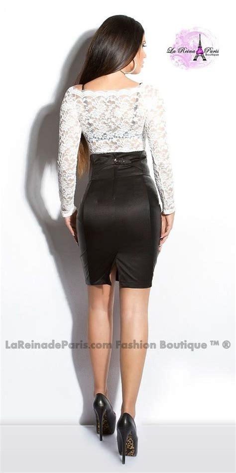 falda talle negra alto lynsie elegante