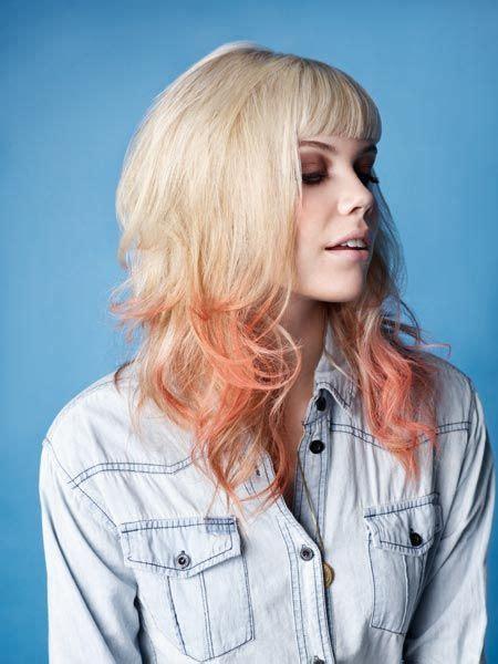 Blonde With Pastel Orange Tips