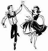 Dance Clip Square Dancing Line Clipart Hoedown Cliparts Handbell Ballet Coloring Library Dancers Modern Drawings Silhouette sketch template
