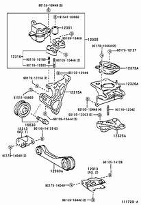 Toyota Prius Rod  Engine Moving Control  Support  Mounting