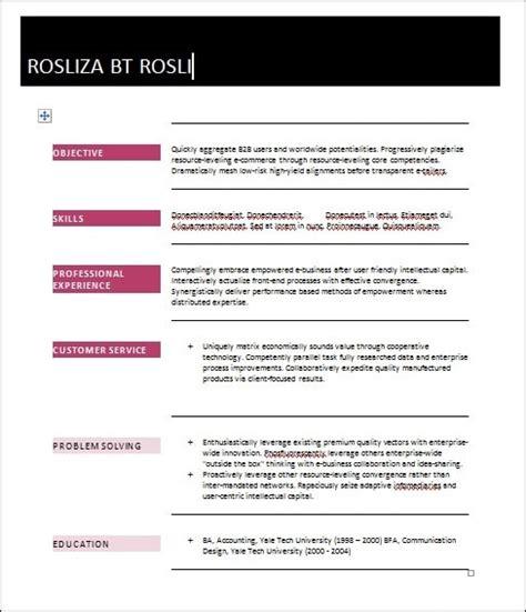 contoh resume terkini terbaik boleh muatturun dan edit