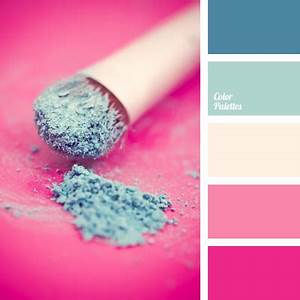 bright and contrasting shades of blue and pink
