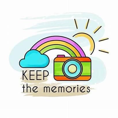Memories Clipart Auslegung Vektorabbildung Ged Halten Ihre