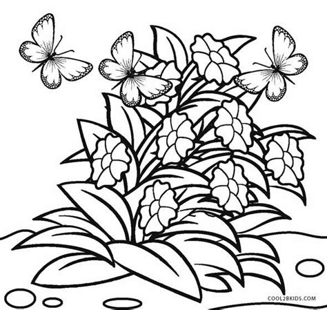 coloring pages of flowers free printable flower coloring pages for cool2bkids