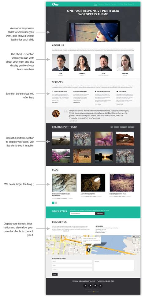 One Page Theme One Page Portfolio Theme Responsive Powerful Easy To