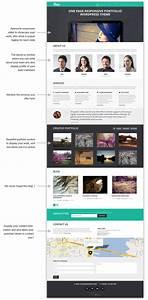 One Page Portfolio Theme Responsive Powerful Easy To