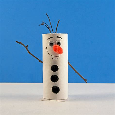 cardboard tube olaf craft  frozen fun family crafts