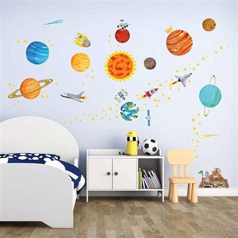 Wandtattoo Kinderzimmer Weltall by Wandsticker Planeten Sonnensystem Weltraum Wandsticker