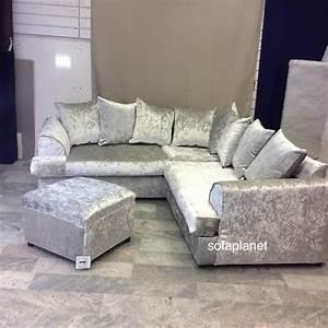 Crushed velvet sofa for Crushed velvet sectional sofa