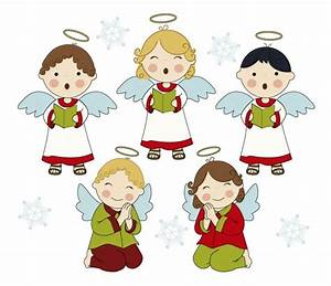 Adorable singing angels Vector | Free Download