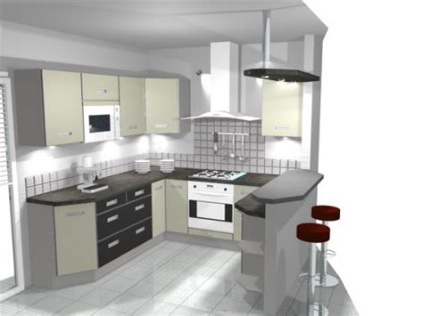 cuisine de 16m2 idée modele cuisine americaine