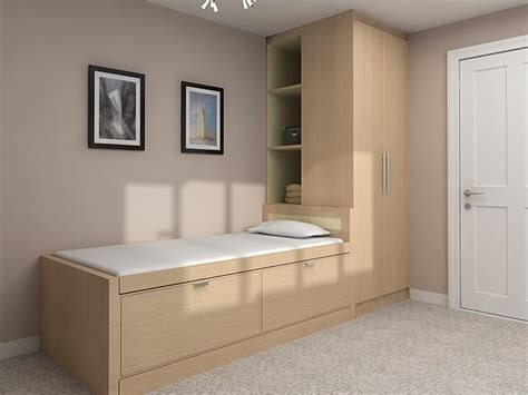 Small Box Bedroom Design Ideas by Bed Wardrobe And Shelves Built Stair Box Bedroom