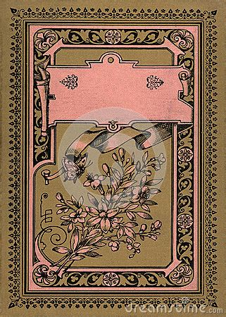 antique vintage diary journal book cover stock photo