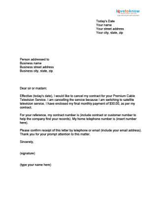 sample letter discontinuing contract services sample