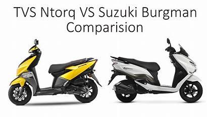 Burgman Ntorq Tvs Suzuki Comparision Scooter Wheelbhp