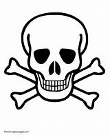 Coloring Pages Pirate Crossbones Skulls Skull Colouring Library Clipart Clip sketch template