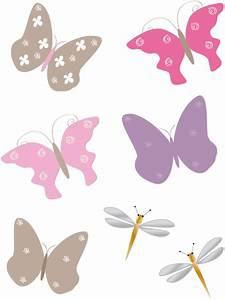sticker papillons pour decor princesse des fleurs With déco chambre bébé pas cher avec livraison fleurs fete des meres