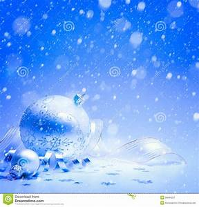 Art Christmas Card With Christmas Decoration On Blue ...