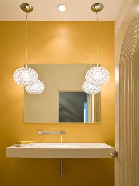 yellow bathrooms  bright ideas hgtv