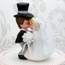 cute bride  groom cake topper