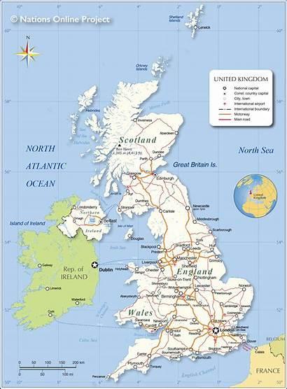 Map Kingdom United Political England Britain Scotland