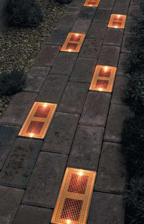 how to install paver lights on a patio