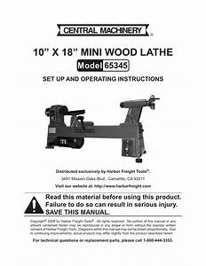 Harbor Freight Tools Central Machinery 65345 User Manual