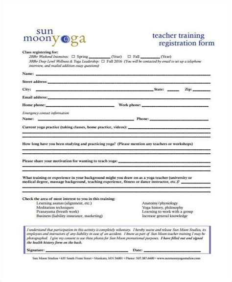 Course Enrolment Form Template by Attractive Course Registration Form Template Frieze