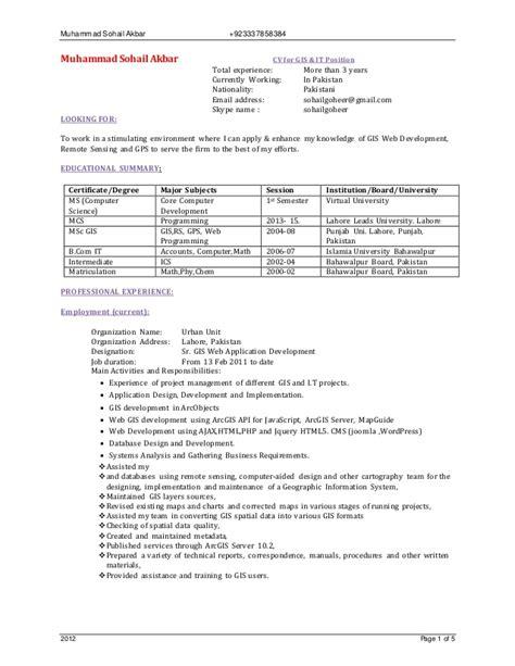 100 gis analyst resume sle 28 free ebook resume