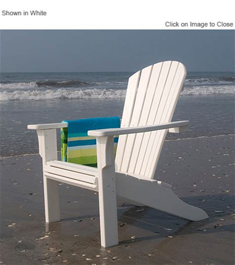 polywood 174 sh22 seashell adirondack chair polywood furniture