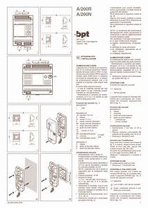 Schema Interphone Bpt A200r Pdf