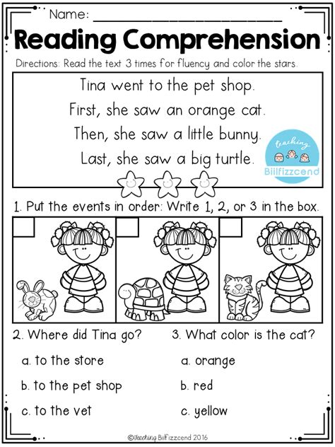 sequencing reading comprehension  images