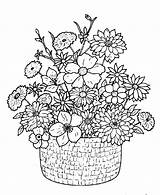 Bouquet Coloring Flower Pages Detailed Flowers Printable Adult Google Drawings Adults Colouring Print Floral Books Basket Boquet Classical Embroidery Azcoloring sketch template