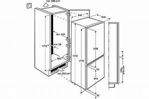 meuble refrigerateur congelateur encastrable With meuble pour refrigerateur encastrable