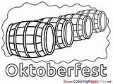 Oktoberfest Colouring Barrels Printable Coloring Pages Sheet Title sketch template