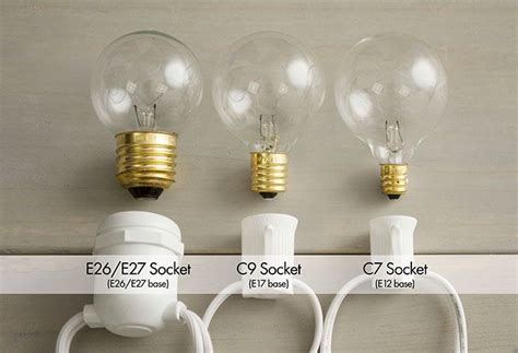 light g40 size comparrison socket size comparison for the home globe string lights string lights and globe