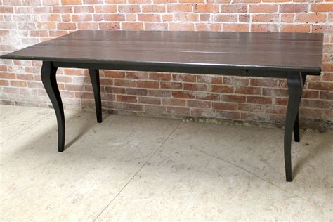 Reclaimed Oak Drop Leaf Table In Black Wash   ECustomFinishes