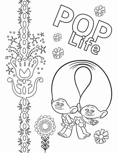 Trolls Coloring Tour Pop Printable Satin Chenille