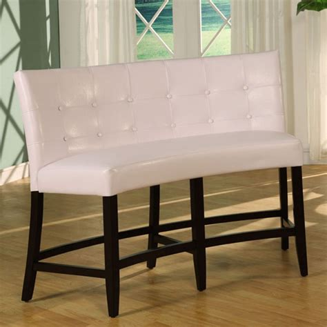 bossa counter height banquette white leatherette