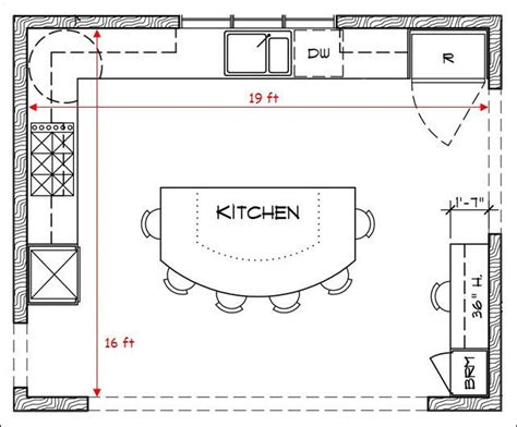 kitchen island design plans 17 best ideas about kitchen floor plans on 5040