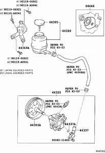 Toyota Avalon Power Steering Pump Reservoir Bracket  Rear