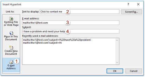 Office 365 Outlook Hyperlink by How To Add A Mailto Link In Outlook Signature