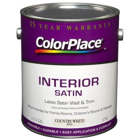 color place interior satin paint country white walmart com